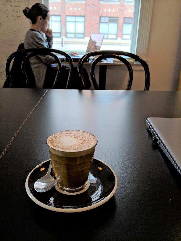 Cortado in Literati Cafe